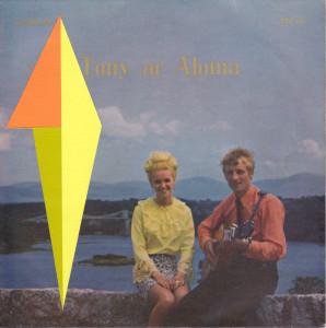 Andre Stitt 'Tony ac Aloma, Mae Geni Geriad #2' EP 1968 (front), acrylic on record cover, 18x18cm, 2018